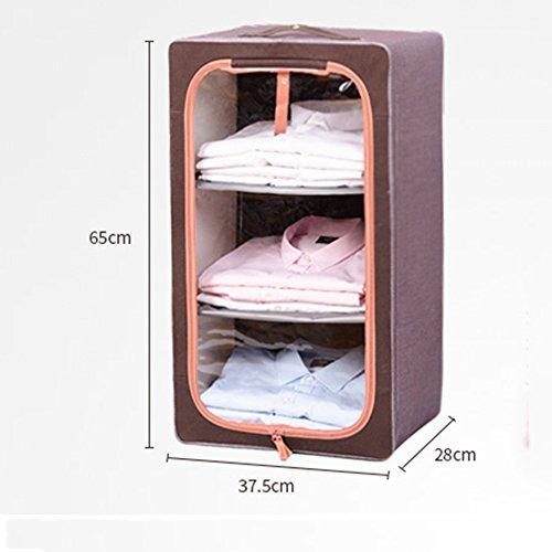 Controllo dei parassiti moisture-- Biancheria intima spessa Box Oxford telaio in acciaio cassetto - Style immagazzinaggio dei vestiti della scatola trasparente Abbigliamento Storage Box --Protezione ambientale ( colore : 1 )