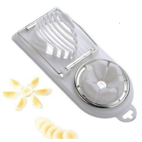Winstory 2-in-1-Eierschneider, Edelstahl und Kunststoff