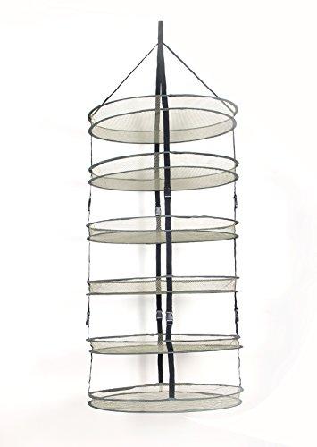 6 Tier Diameter 60cm vert Mesh greenhouse Detachable dry net and Hydroponic Hanging Grow dry rack
