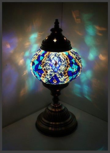 Mosaiklampe Mosaik - Tischlampe M Stehlampe orientalische lampe Blau Samarkand-Lights - Mosaik-tisch-lampe