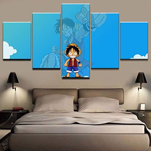 Pequeño Mono Lindo D. Luffy HD Lienzo HD Imprime Fotos Wall Art Home Cartel Decorativo Ilustraciones Modernas,A,30×40×2+30×60×2+30×80×1