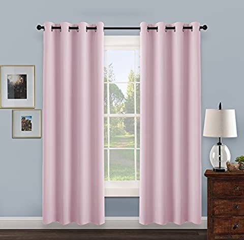 Eyelet Thermal Blackout Curtains Panels - PONY DANCE (52