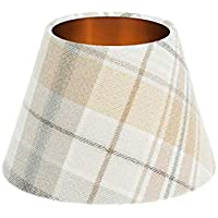 Troon Ochre Yellow Grey Tartan Empire Lampshade Brushed Copper Inner 25cm  30cm 35cm 40cm 50cm 60cm 8e3ad8d3a