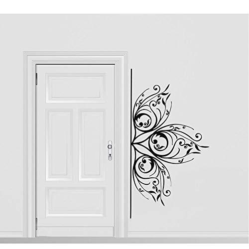 Hermoso adorno floral delicado etiqueta de la pared decoración del hogar sala...