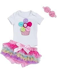 Juleya 0-24 Months Baby Body Sets Skirt + Headhand + Hair Hand Cotton
