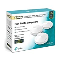 TP-Link Whole Home Hybrid Mesh Wi-Fi System, Deco P7 AC1300+AV600 (3-pack)