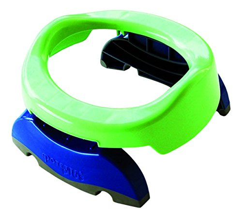 Ekko Potette Plus Vasino e Riduttore da Viaggio 2 in 1, Verde/Blu