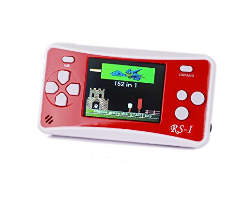 "QINGSHE 2.5"" LCD 8-Bit Retro 152x Video Games Portable Handheld Console -RED"