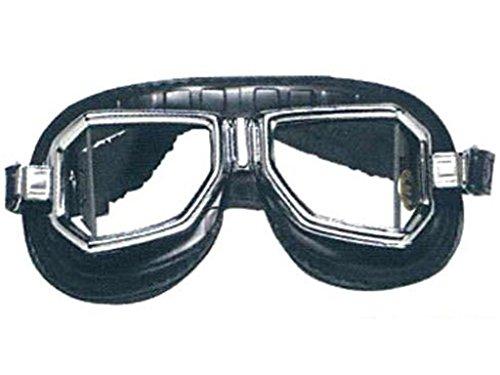 Aviator Climax Motorradbrille 513 SNP schwarz verchromter Rahmen Gläser klar