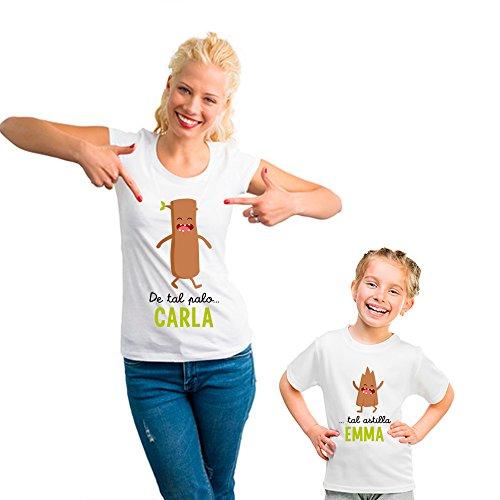 Camisetas a juego mamá y niñas o niños para regalar