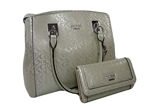 Guess Gefütterte Umhängetasche (New Guess G Logo Purse Satchel Hand Bag Crossbody & Wallet Set 2 Piece Champagne)