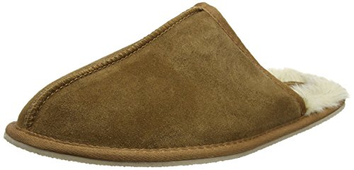 Ruby & Ed Mens Chestnut Scuff, Pantofole Uomo Brown (Chesnut)