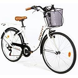 """Moma Bikes Bicicleta Paseo City Classic 26"""", Aluminio , SHIMANO 18V"""
