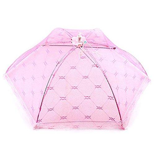 Chunyang Lace Sechseck Faltbare Lebensmittel Abdeckung Regenschirm Screens Schutz Flies/Bugs für Home/Picnic / BBQ zufällige Farbe