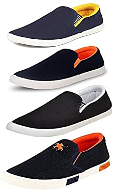 Maddy Men's Perfect Combo Pack of 4 Loafers in various sizes (10)