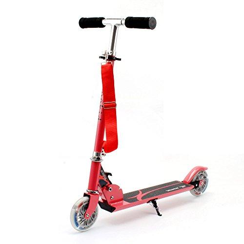 Honkid Roller Tretroller Cityroller Kinderroller, 2 räder Scooter Klappbar mit Aluminium-Legierung,Höheeinstellbare 63 - 85cm, rosa