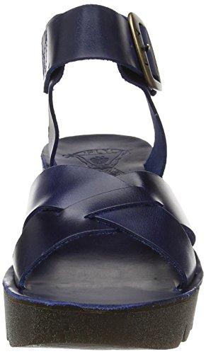 FLY London Rese730, Sandales Bout Ouvert Femme Bleu (Blue 002)
