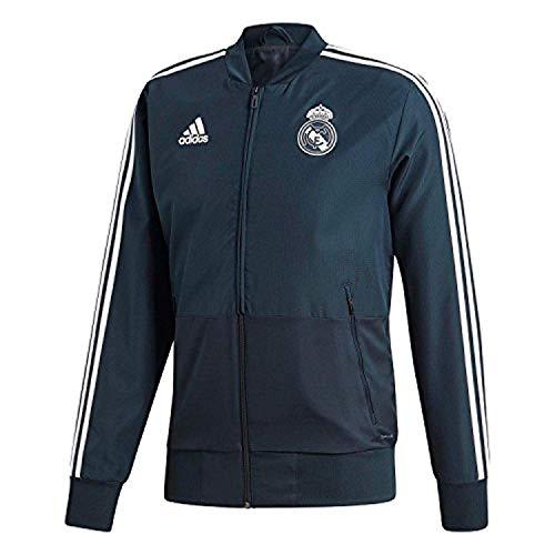adidas Herren Real Madrid Presentation Jacket Trainingsjacke, tech Onix/Black/Core White, M