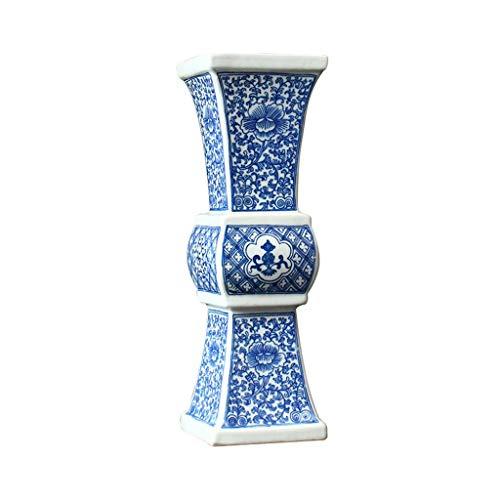 SEEKSUNG Vaso di Ceramica, Vaso Blu E Bianco della Porcellana Piano Grande Vaso Master Hand Porcellana Dipinta Moderno Ornamento Ceramica Decorazione -