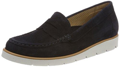 Gabor Shoes Gabor Casual, Mocassins Femme Bleu (Pazifik Grau)