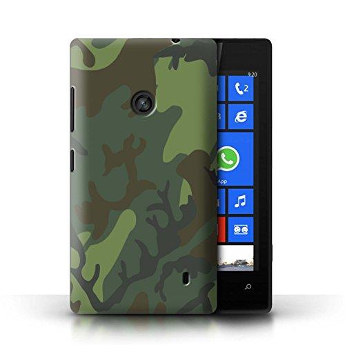 Stuff4® Hülle/Case für Nokia Lumia 520 / Tropisches Retro ERDL Muster/Militär Camouflage Tarnung Kollektion