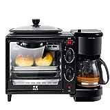 Shocly Toaster Automatik Brotmaschine Edelstahl Kaffeemaschine Frühstücksautomat Elektrischer Ofen Mini Haushalt Geschenk
