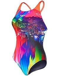 Speedo Women's Sunset Samba Placement Digital Powerback Swimsuit