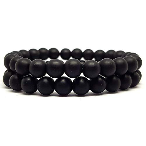 KARDINAL WEIST Onyx Armband, Edelstein Perlen, Natur Stein Schmuck für Damen und Herren, Chakra, Yoga, Energie - Kardinäle Damen-accessoires