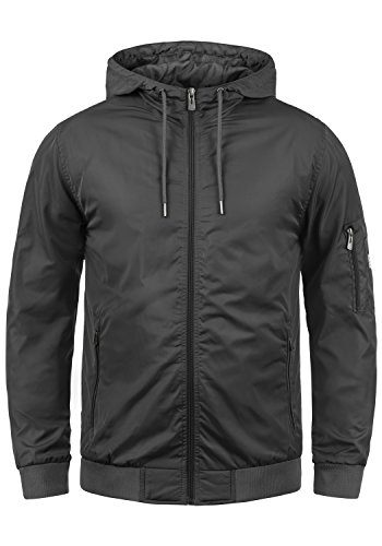 Blend Razy Herren Übergangsjacke Herrenjacke Jacke Mit Kapuze, Größe:L, Farbe:Phantom Grey (70010)