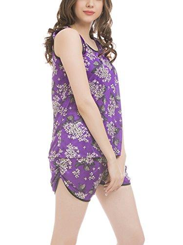 Clovia - Chemise de nuit - Femme Violet