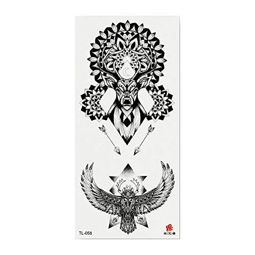 Tatuaje de la flor apliques brazo dama pecho vientre cubierta cicatrices atrapasueños tatuaje pegatina impermeable 3pcs-18 148 * 210 MM