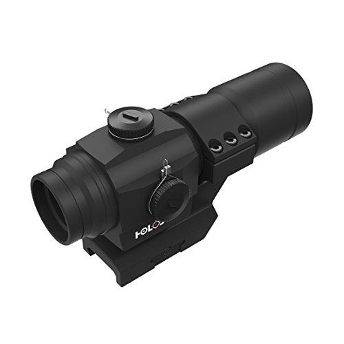 Holosun HS406A Tube Reflexvisier Rotpunkt Visier mit 2MOA Punkt Absehen, Schwarz, Picatinny/Weaver Montage, für die Jagd, Sportschießen und Softair, Tactical Tube Reflex Red Dot Sight - 70127348