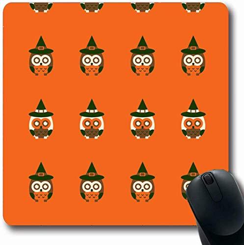 Luancrop Mousepad Oblong Black Owls Herbstferien Boo Bright Broom Kostüm Cute Design Büro Computer Laptop Notebook Mauspad, rutschfeste - Cute Owl Kostüm