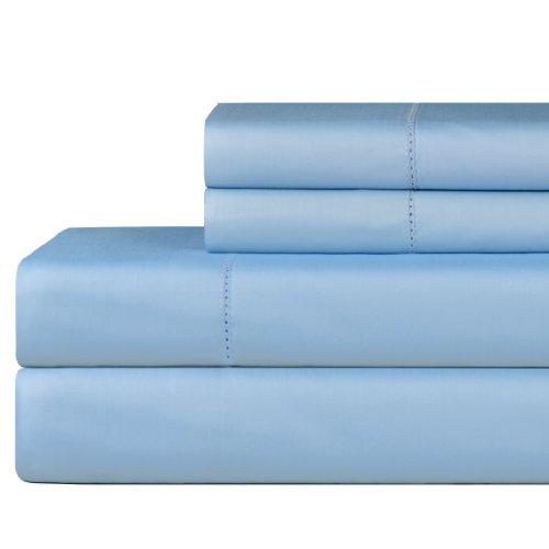 Celeste Home 610Fadenzahl Pima-Baumwolle Kissenbezüge, Standard, SPA blau