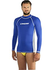 Cressi Rash Guard Long Sleeves - Camiseta de buceo, color azul / blanco, talla M/3 (50)