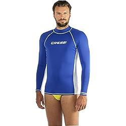 Cressi Homme Haute de combinaison Protection Solaire UV (UPF) 50+ - Bleu Royal/Blanc - Gr. XL/5