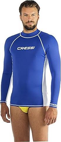 Cressi Herren Rash Guard UV Sun Protection (UPF) 50, Ärmel Lange, LW477106, Blau, XXL/6-56 (Aqua Ärmel)