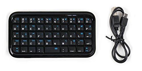 Kabelloses Tippen: Bluetooth Tastatur mit englischer Tastenanordung QWERTY für Alcatel Pixi 4 (5