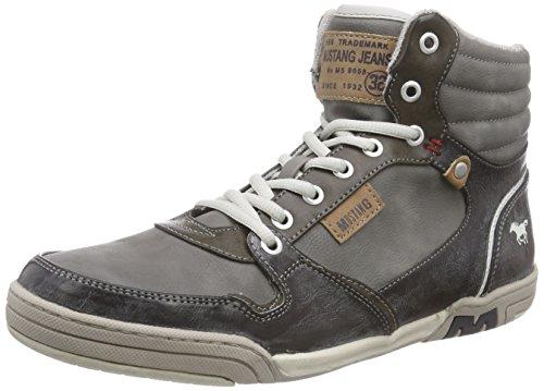 Mustang - High Top Sneaker, Alte Scarpe Da Ginnastica da uomo, grigio (2 grau), 41