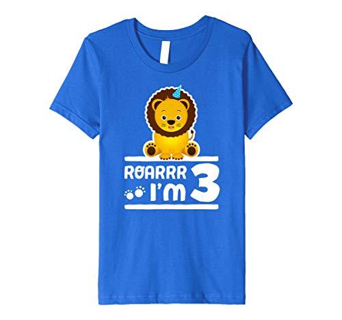 (Kinder Kids niedliche 3. Birthday Boy Jugend Löwe Zoo Shirt 3Jahre alte Kinder)