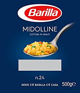 Barilla - Midolline n.24, Pasta di Semola di Grano Duro - 8 confezioni da 500 g [4 kg]