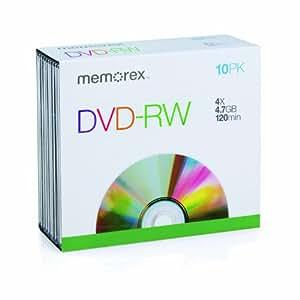 Memorex 4X DVD-RW 4.7GB 10 Pack