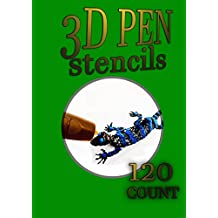 3D Pen Stencil Book: 120 Exercises to Doodle with in 3D! (English Edition)