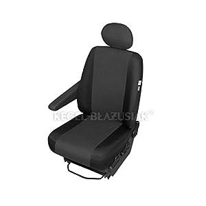 ZentimeX Z967638 Sitzbezüge Fahrersitz / Einzelsitz Armlehne rechts Stoff schwarz Airbag-Kompatibel