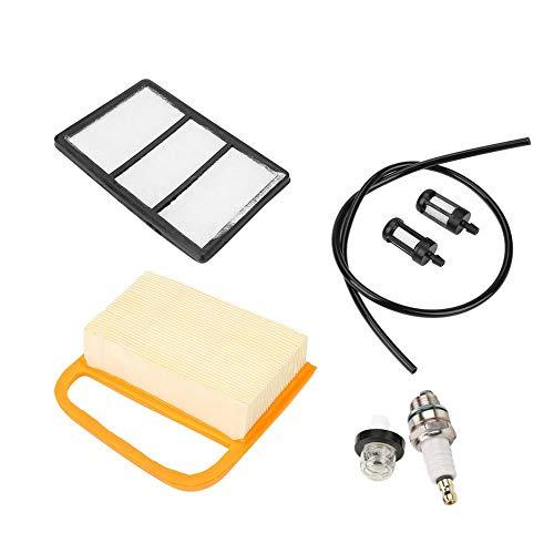 Akozon Luftfilter Kraftstofffilter Primer Bulb + Stecker Service Kit für Stihl TS410 TS420 Trennsäge