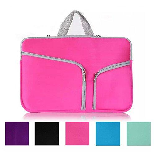 Preisvergleich Produktbild Koala group*MacBook 11, 6 Zoll Notebook-Hülle,  wasserdicht / Antifouling-Neopren,  doppelte Tasche Außenfach Reißverschlussfach Sleeve ----- Rosy red