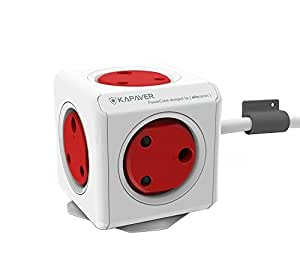Kapaver PowerCube Adapter Spike Guard with 5 Socket Outlet with 1.5 Metre Extension Cable (1.5M Extension)