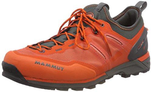 Mammut Herren Alnasca Knit Low Trekking- & Wanderhalbschuhe, Dark Orange/Graphite 000, 44 2/3 EU