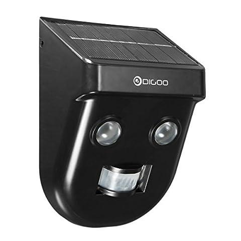 DIGOO DG-SSR-1 Lampe Solaire, Jardinier Solaire Wireless PIR Sensor Long-Distance Imperméable à l'extérieur de la lumière Murale Extérieure
