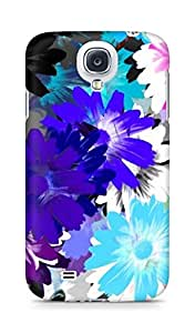 Amez designer printed 3d premium high quality back case cover for Samsung Galaxy S4 (Oil Colorful Drawing Flower)